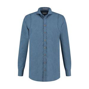 Blue Crane Tailored Fit Hemd - Denimblau