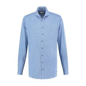 Blue Crane Slim Fit Hemd - Himmelblau Melange