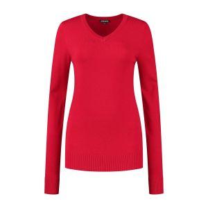 Casa Mia - V-Ausschnitt Pullover Rot