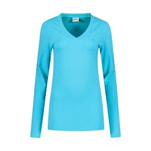 Highleytall - V-Ausschnitt Langarmshirt Türkis