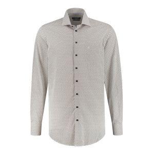 Ledûb Modern Fit Hemd - Weiß/Multi